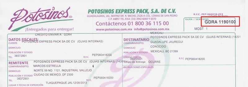 Transportes Potosinos - RASTREO